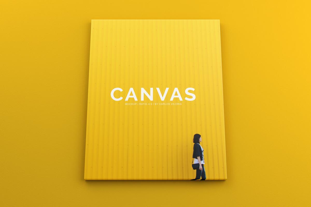canvas mockups bundle - Landscape Canvas Ratio 4x5 Mockup 01