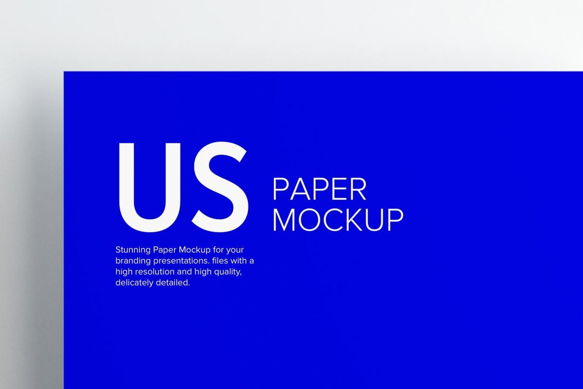 US Letter Paper Mockup