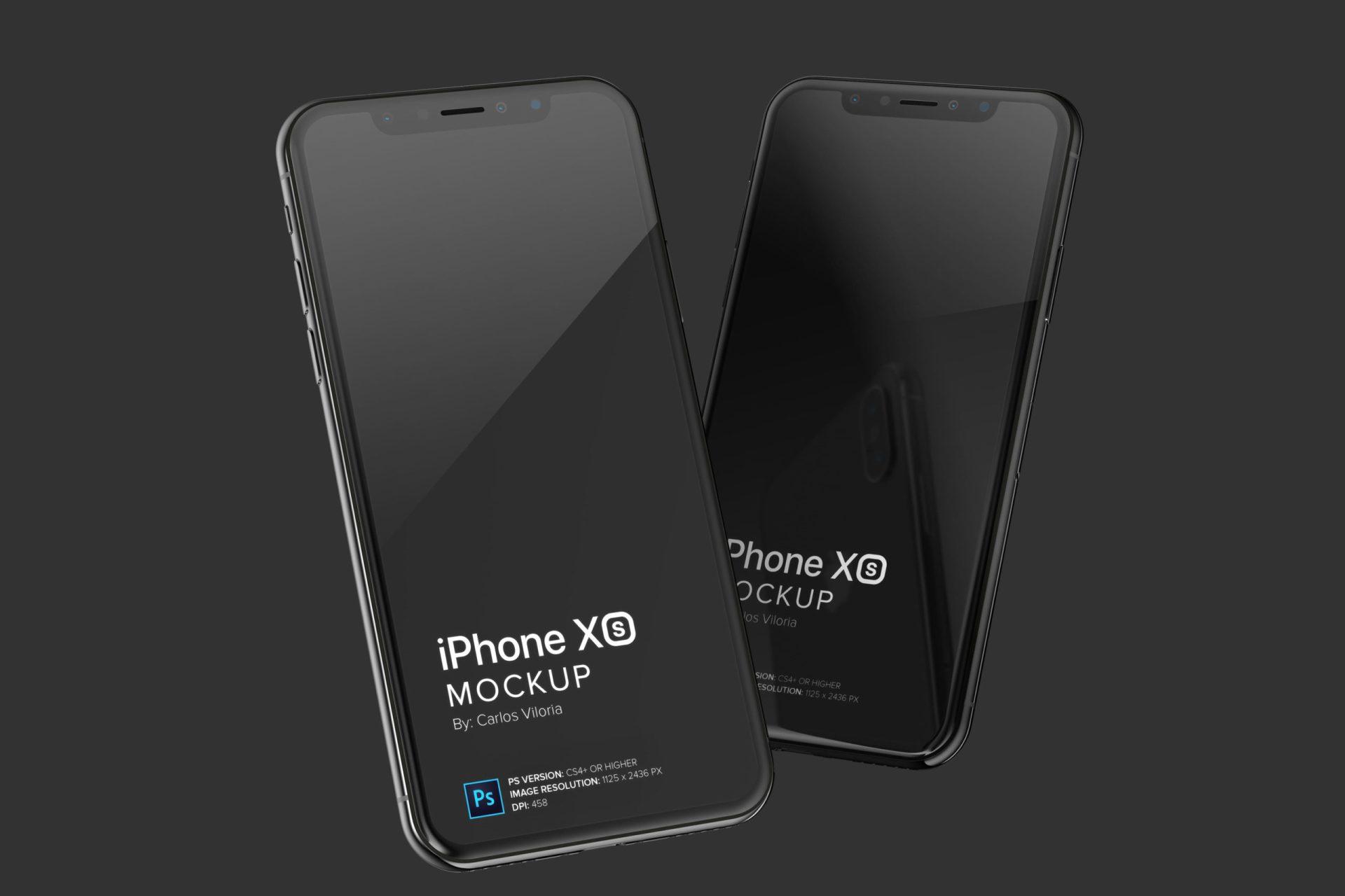 iPhone XS Mockup for Responsive Web Design
