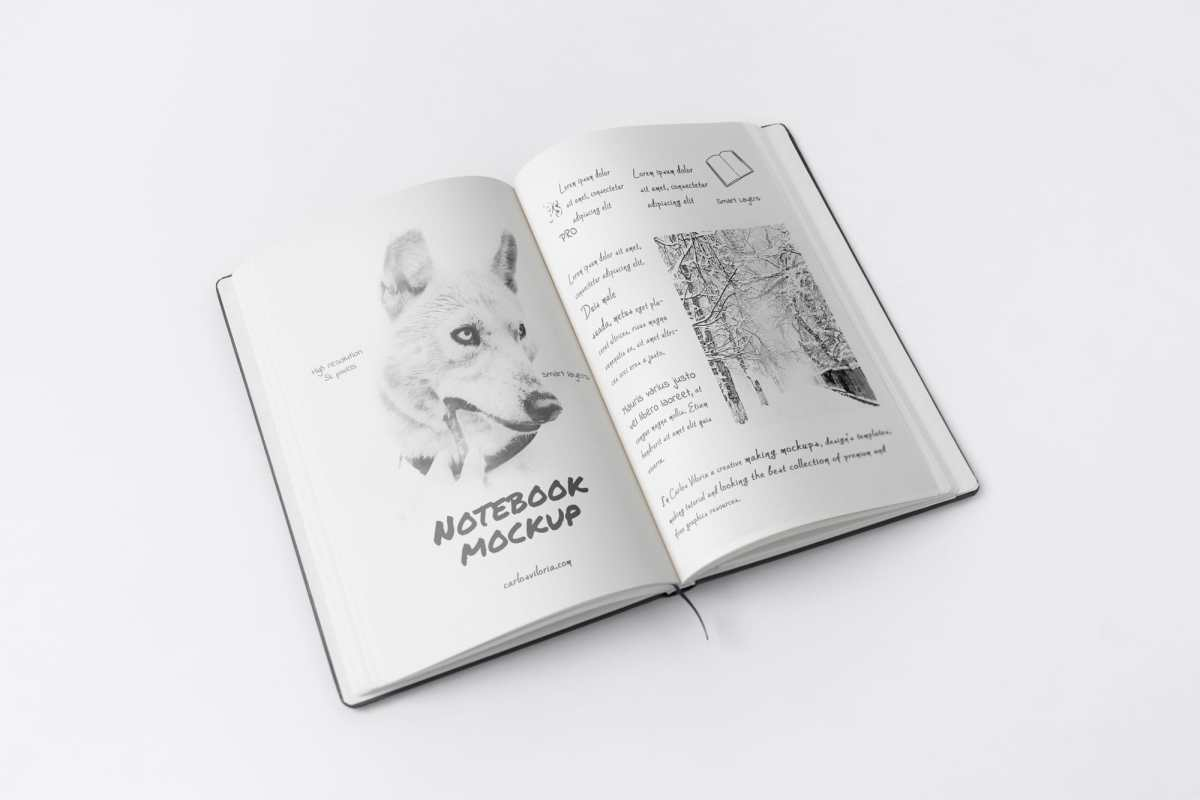 Free A5 Sketch Notebook Mockup 02