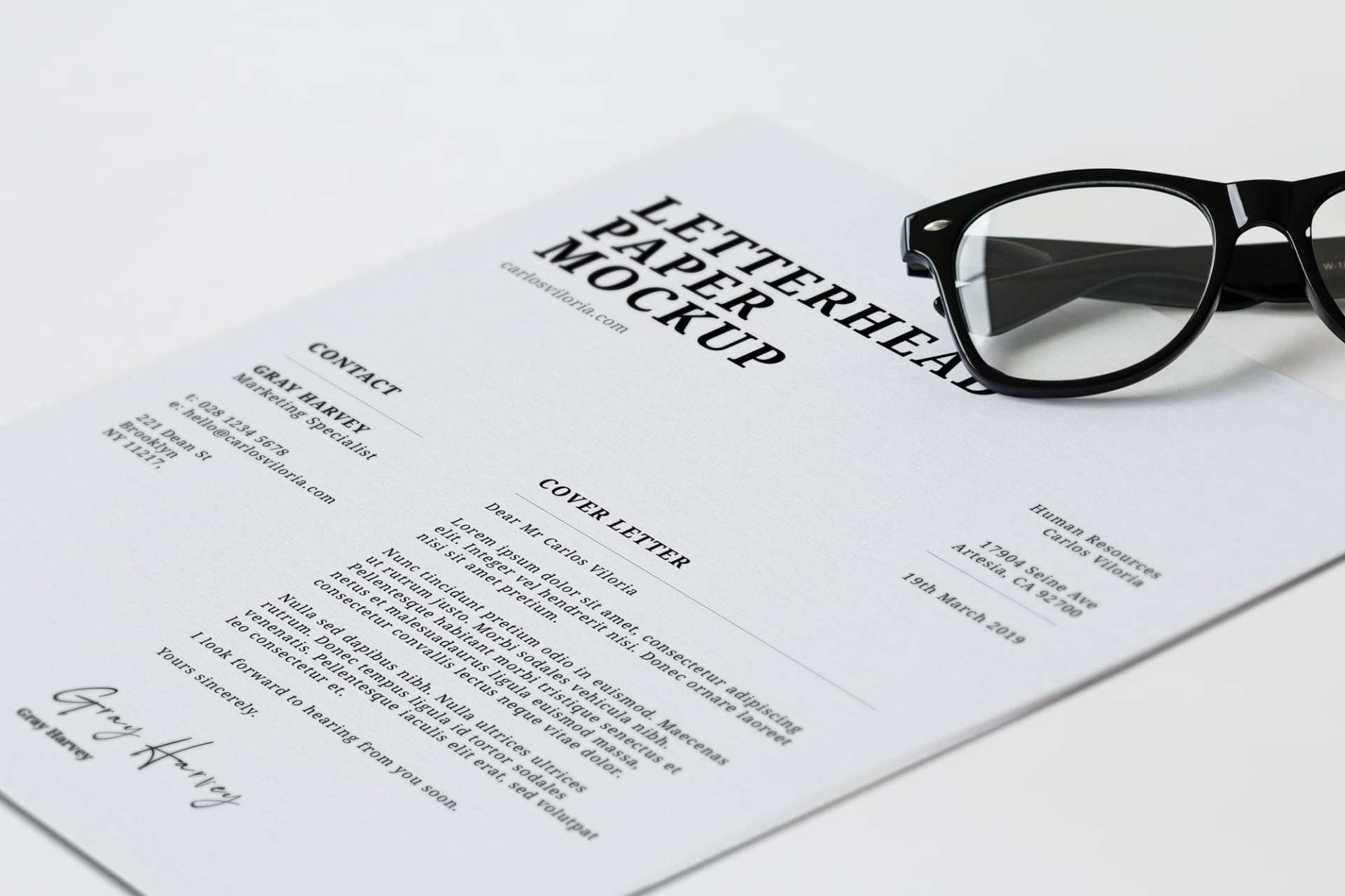 Free Letterhead Paper Mockup