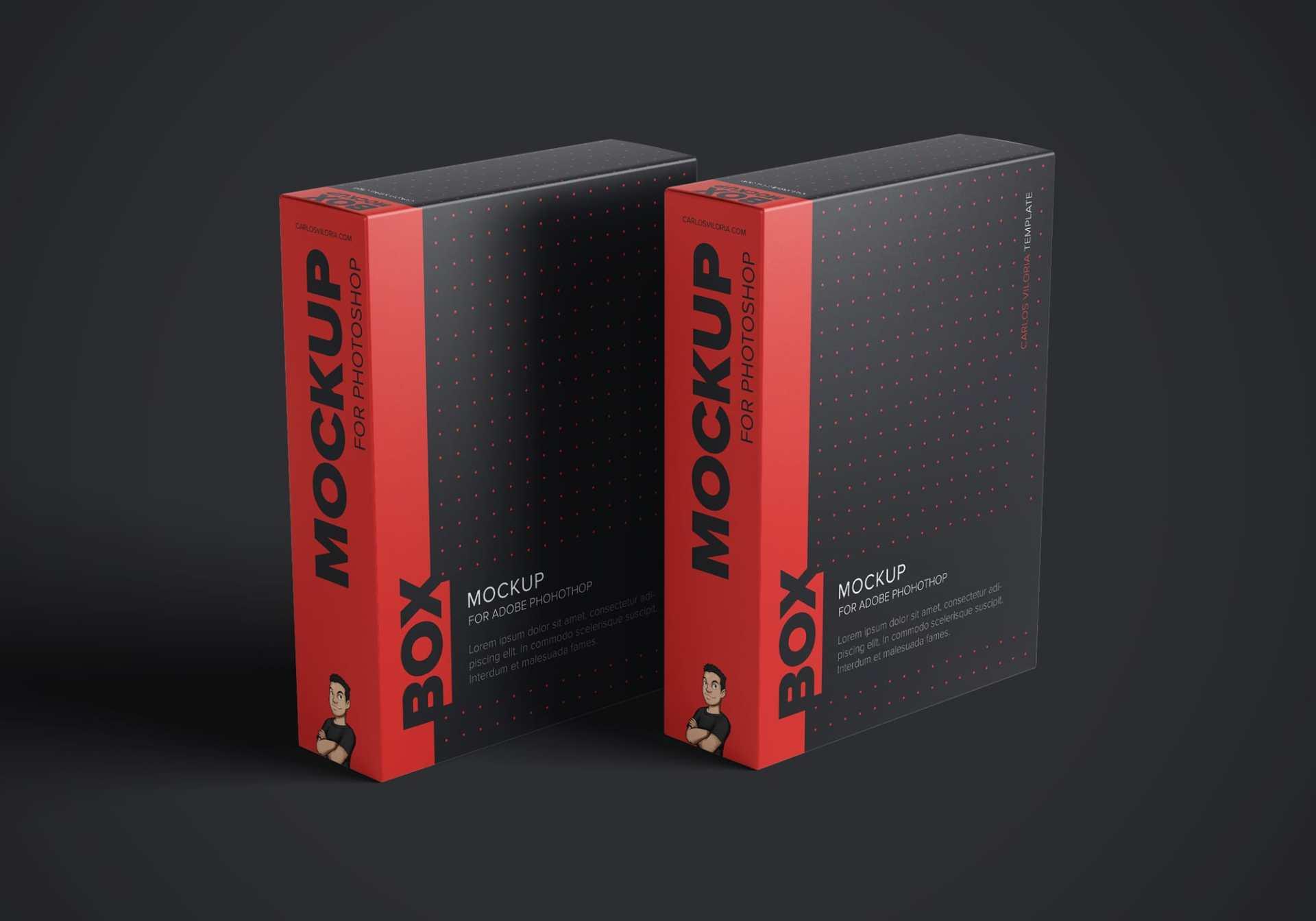 Free Software Box Mockup Pack