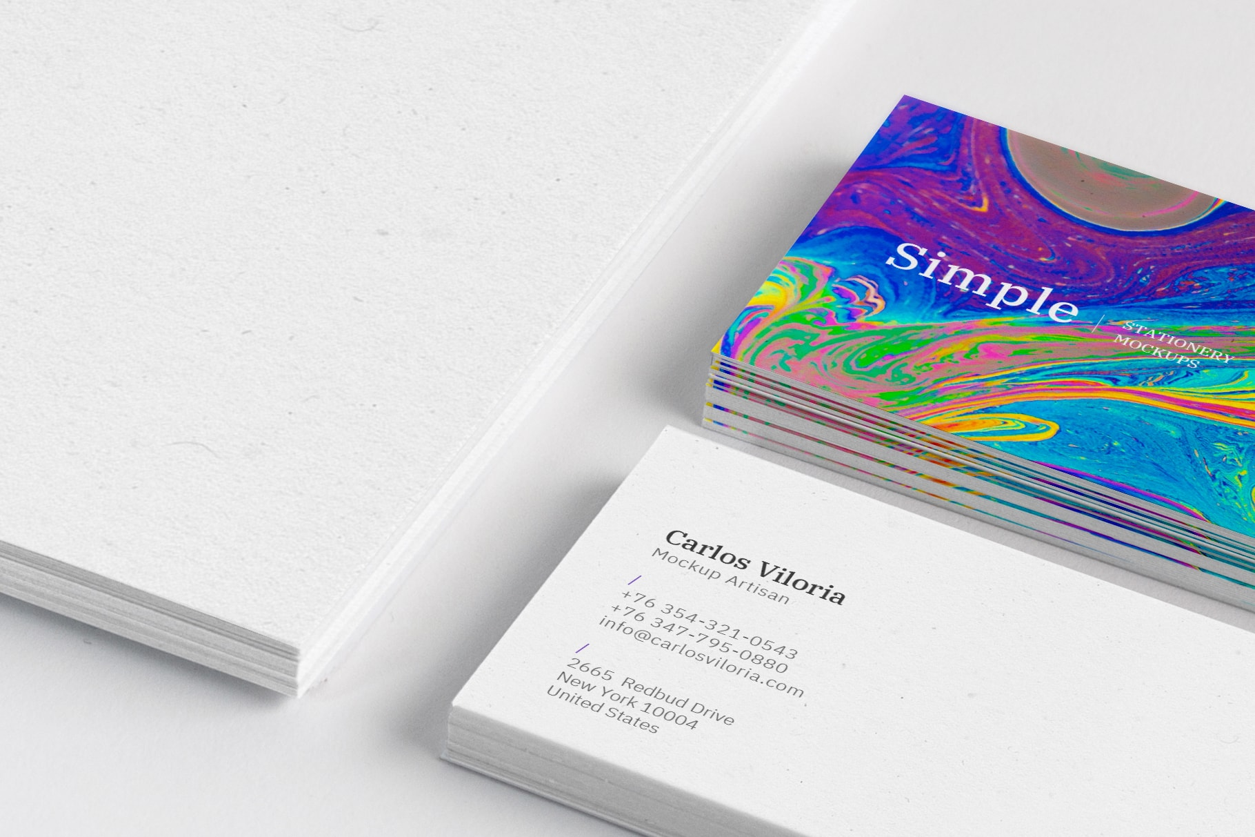 A4 and Business Cards Mockup 01