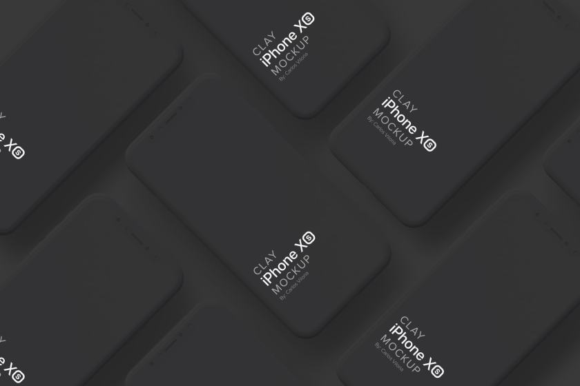 Clay iPhone XS Mockup 03