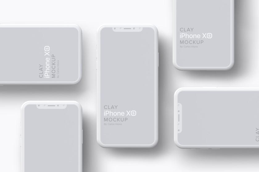Clay iPhone XS Mockup 07