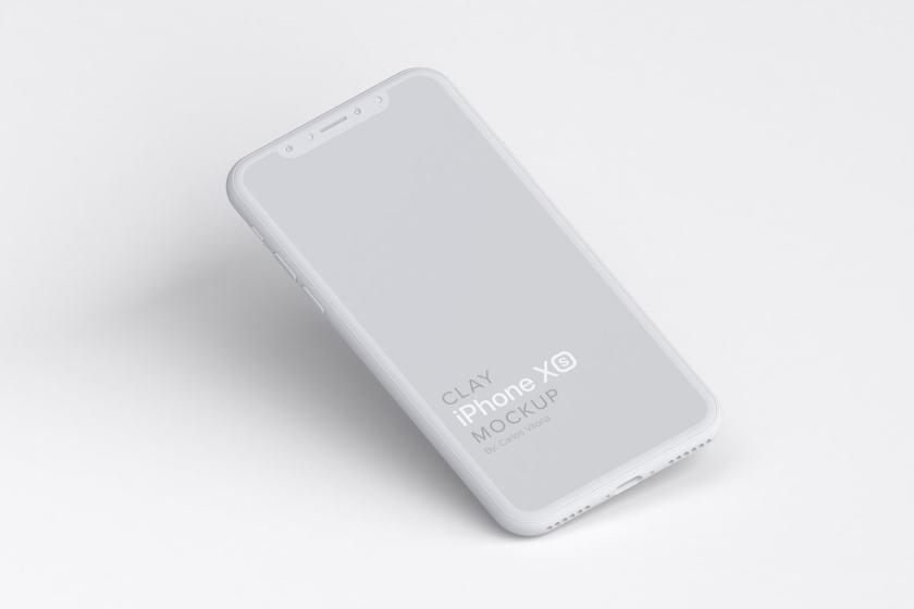 Clay iPhone XS Mockup 01