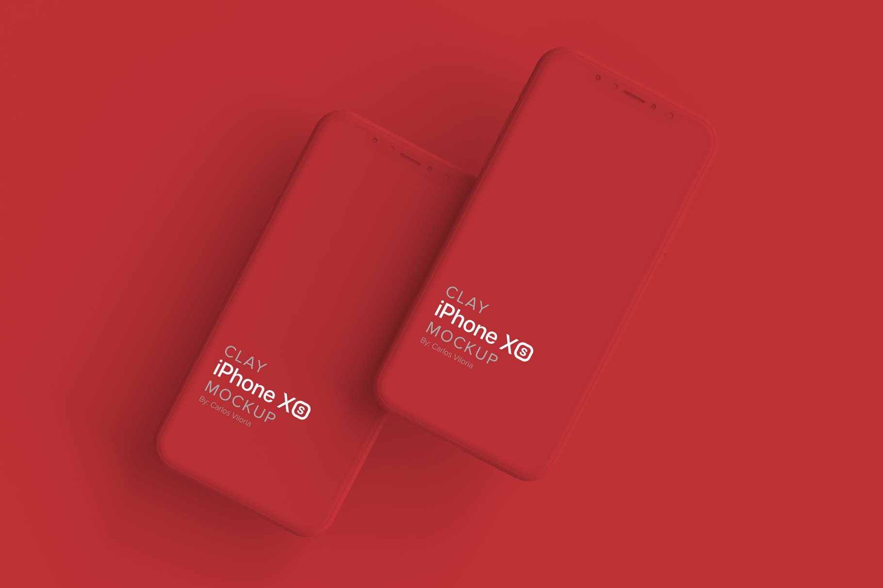 Clay iPhone Mockup for iOS Apps