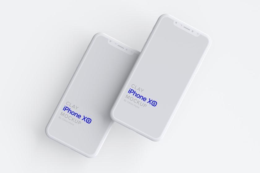 Clay iPhone XS Mockup 04
