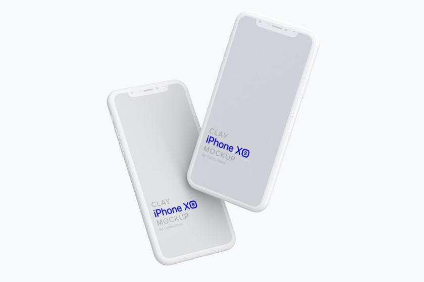 Clay iPhone XS Mockup 05