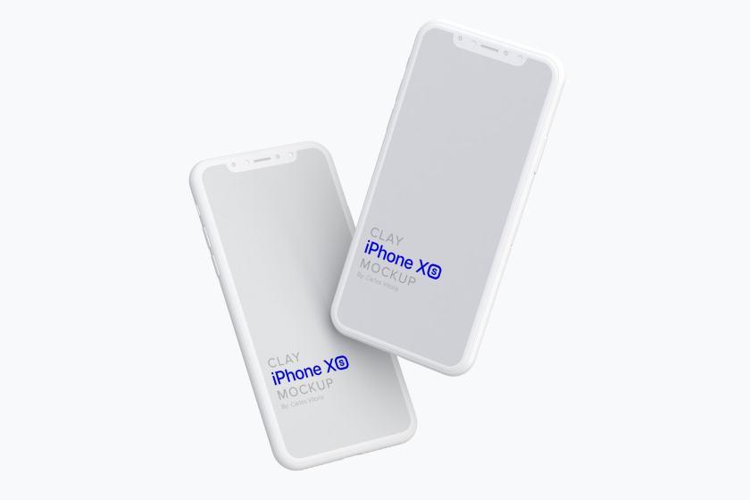 Clay iPhone XS Mockup 05