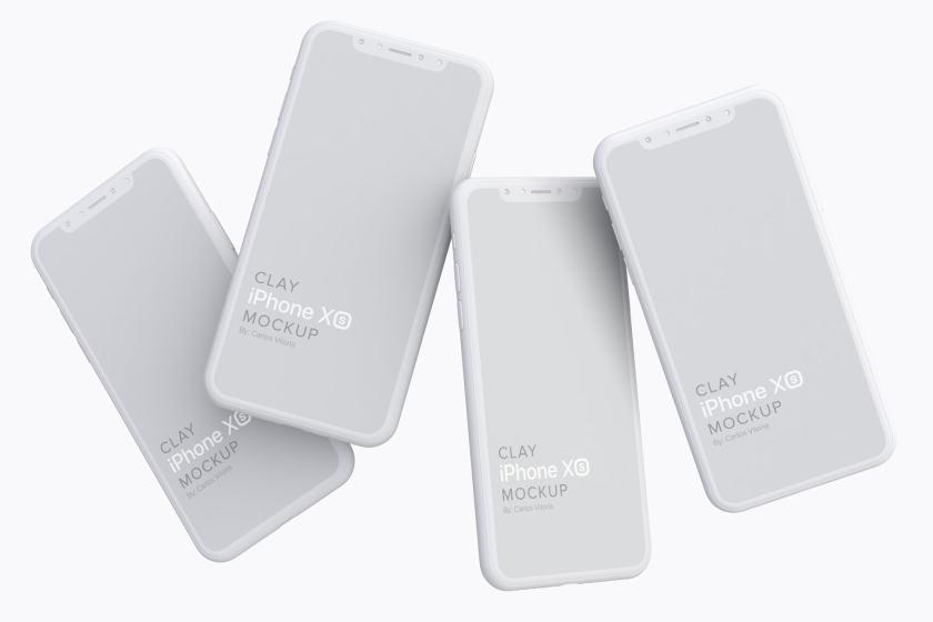 Clay iPhone XS Mockup 06
