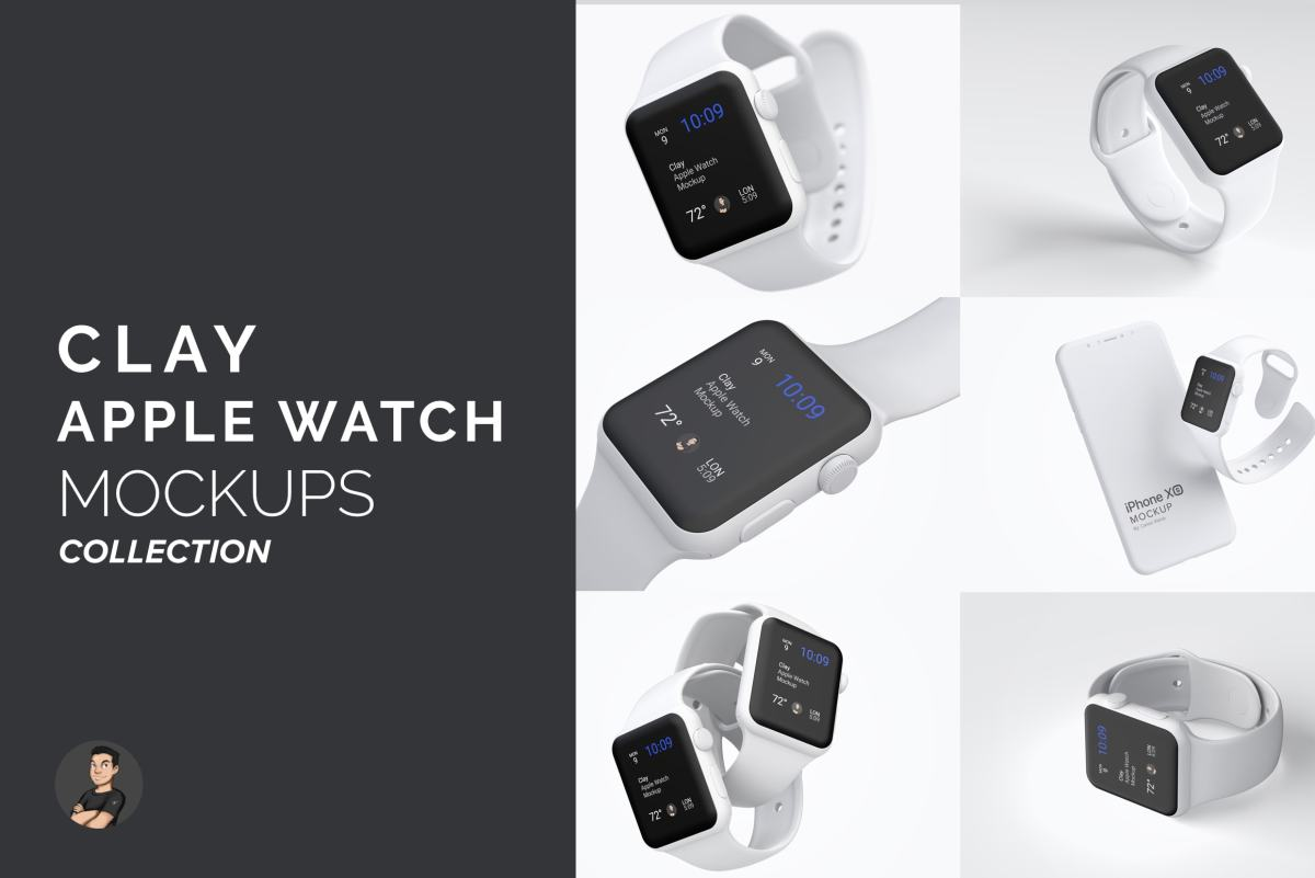 Clay Apple Watch Mockup Collection