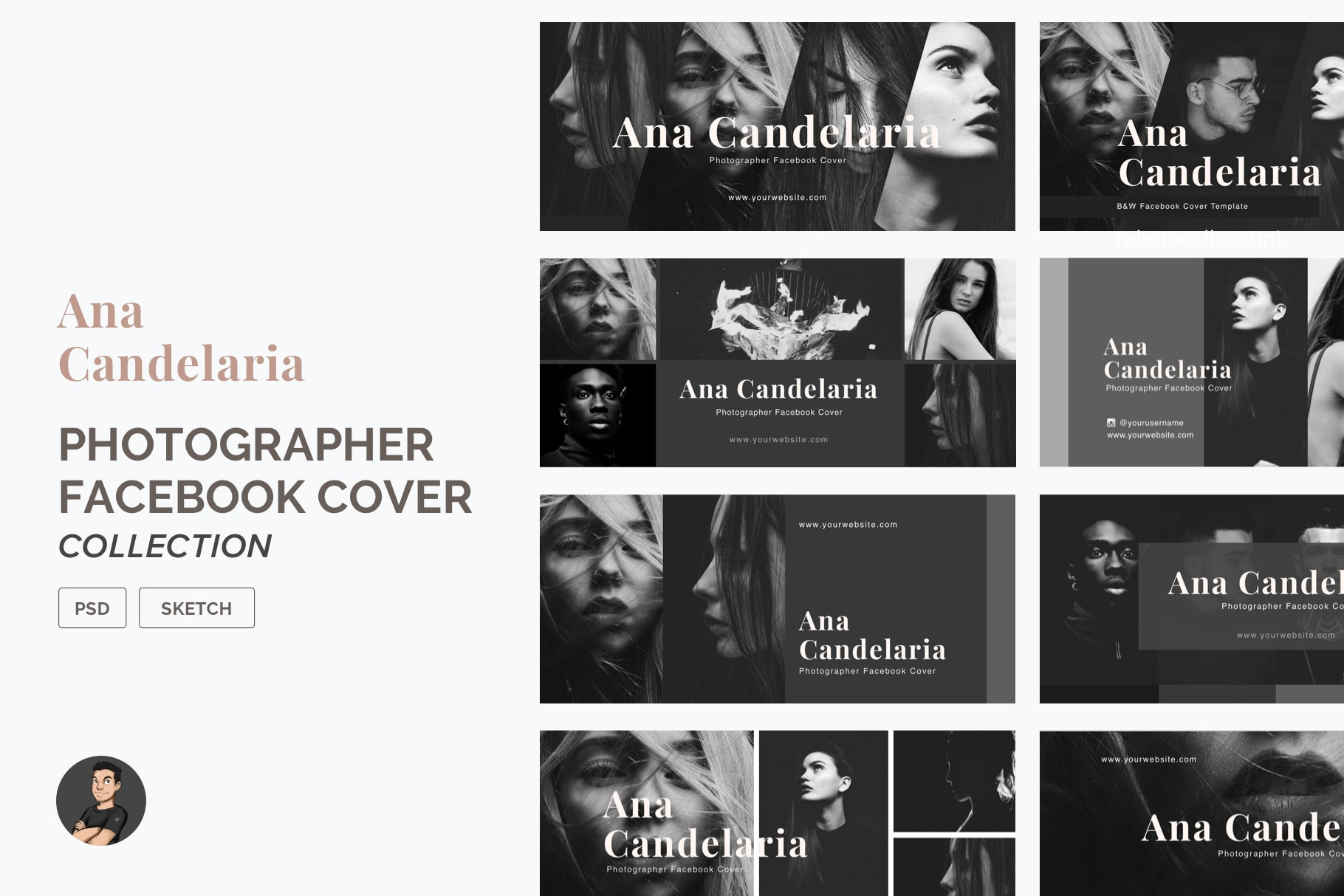 Facebook Cover Template Pack for Photographers