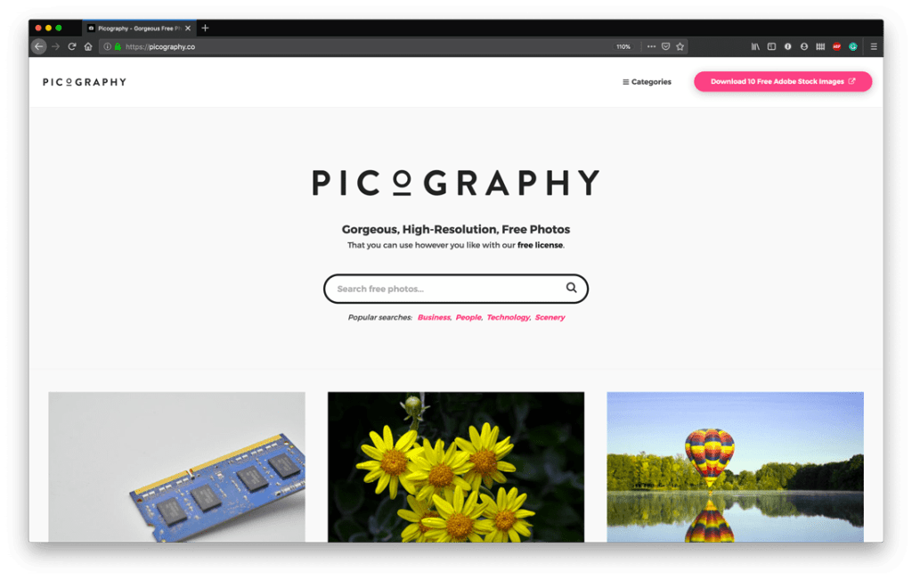 Top Free Stock Photo Sites - Picography