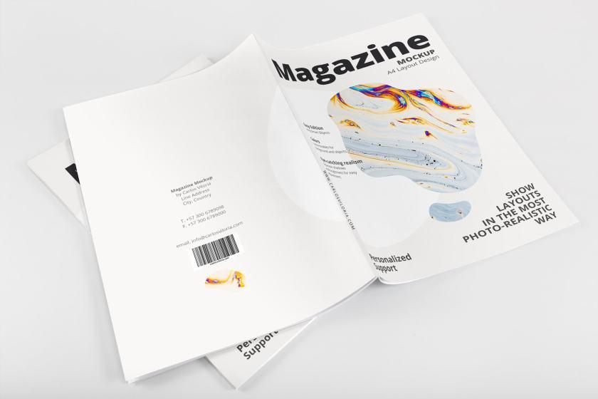 A4 Magazine Mockup 01