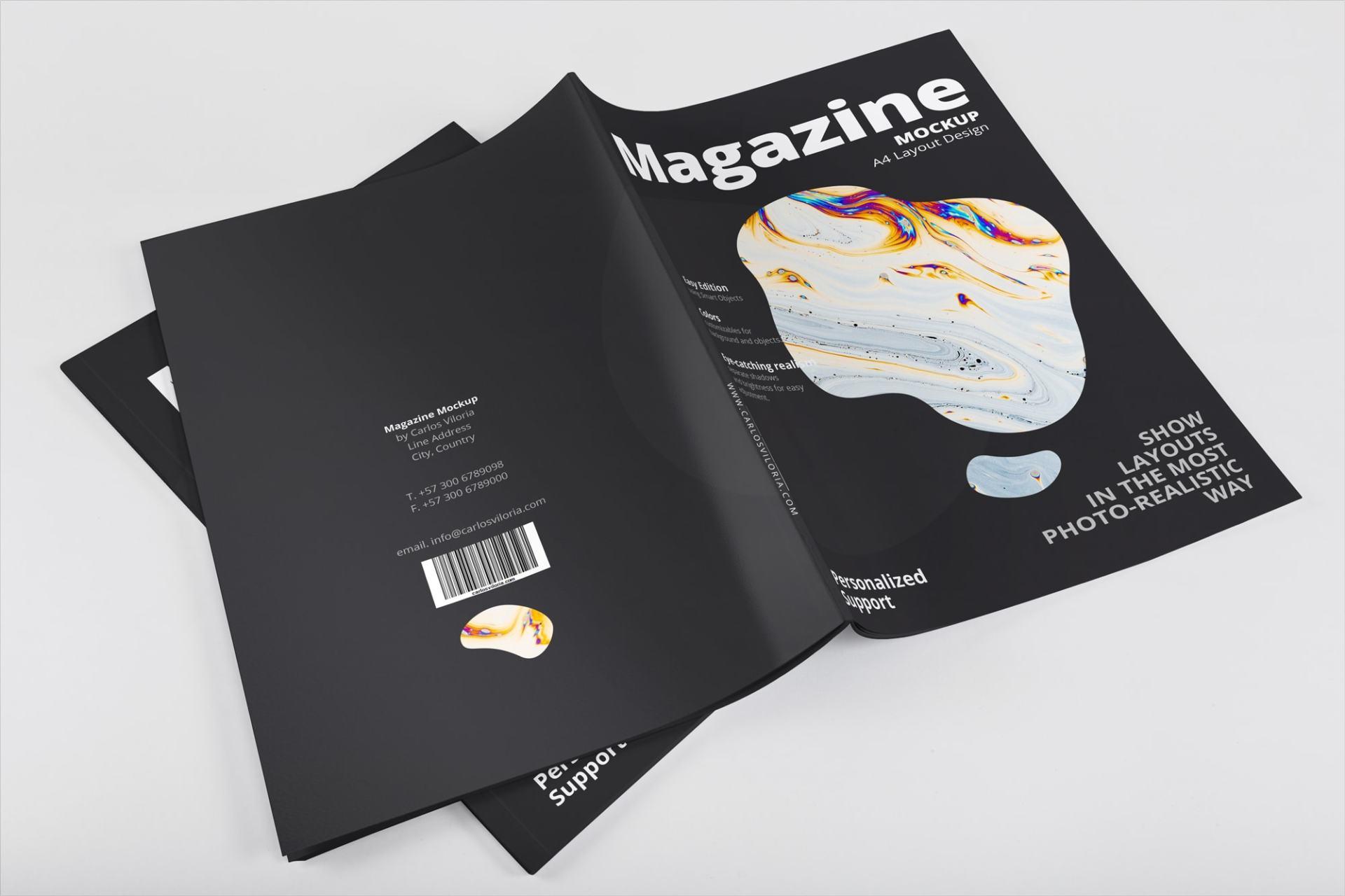 Creative A4 Magazine Mockup