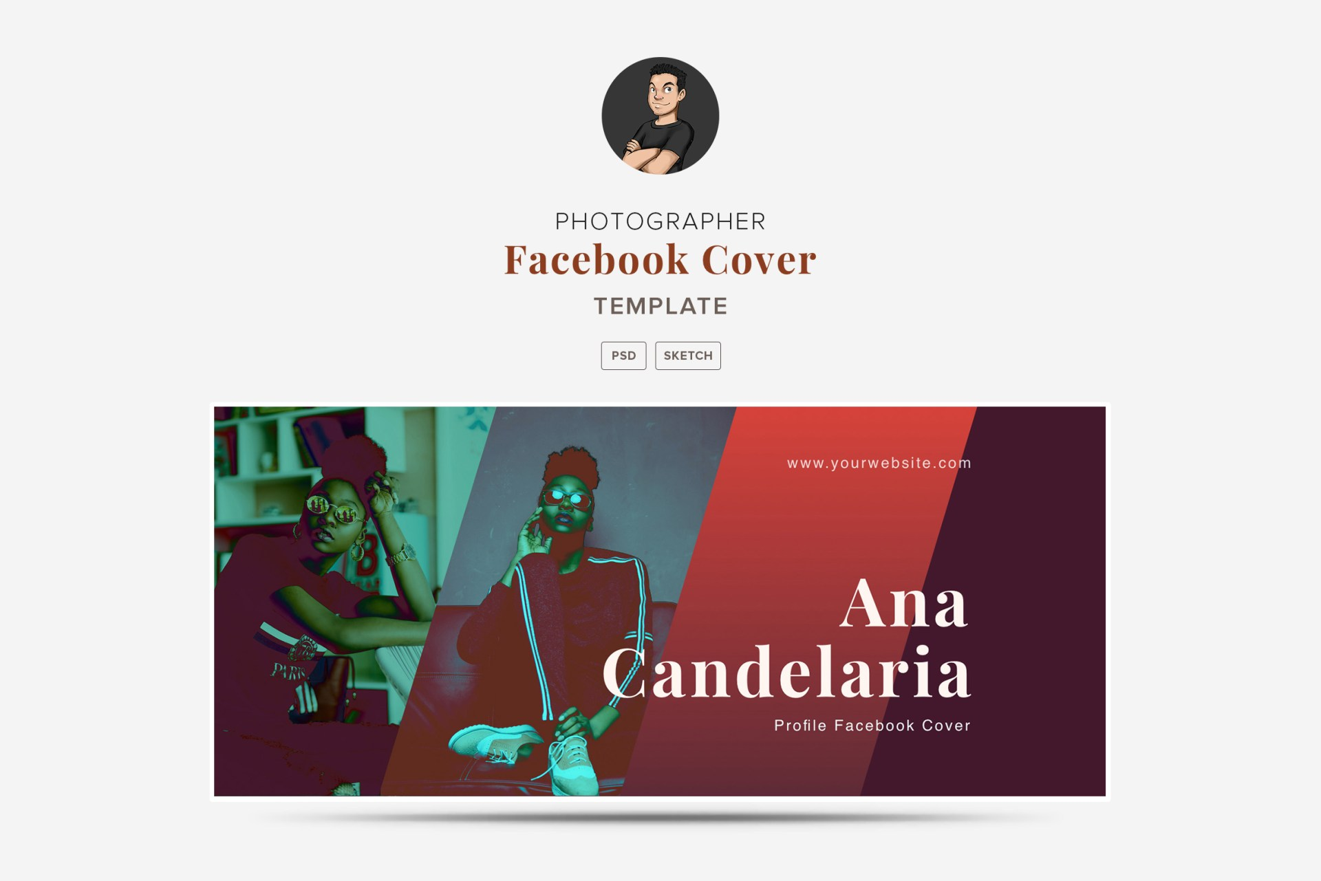 Facebook Cover Template for Photoshop & Sketch