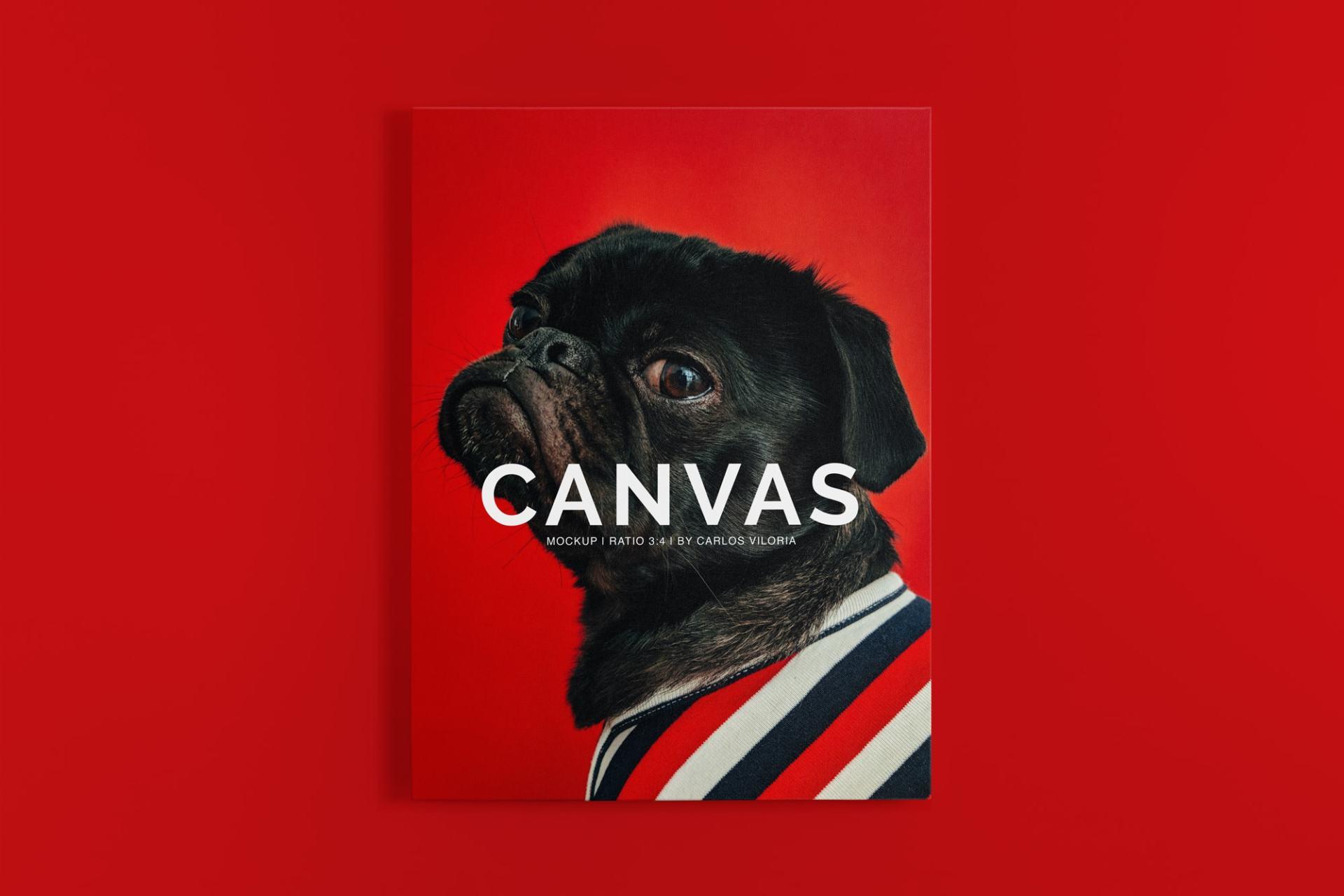 canvas mockups bundle - Portrait Canvas Ratio 3:4 Mockup 01