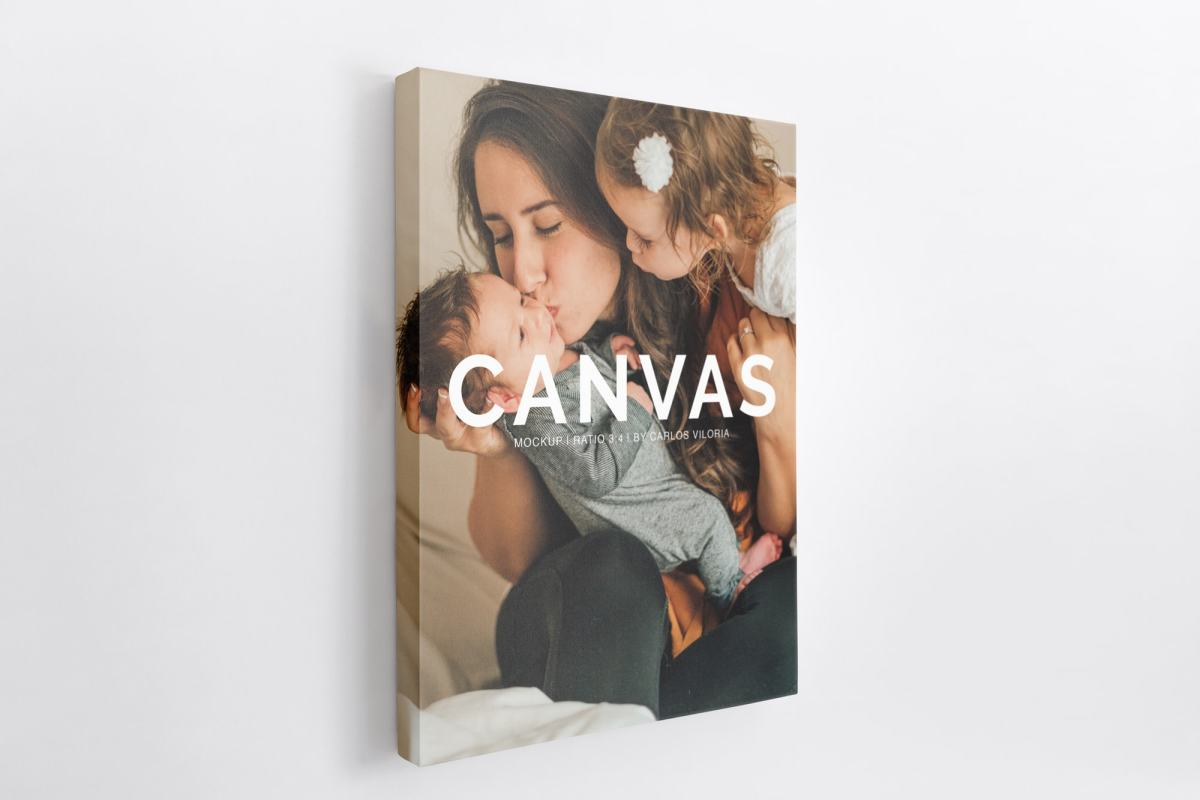 canvas mockups bundle - Portrait Canvas Ratio 3x4 Mockup 03