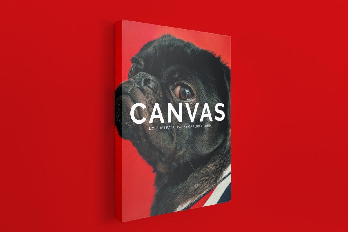 canvas mockups bundle - Portrait Canvas Ratio 3:4 Mockup 03