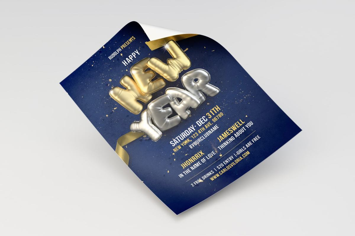 New Year Flyer - Poster Template 02