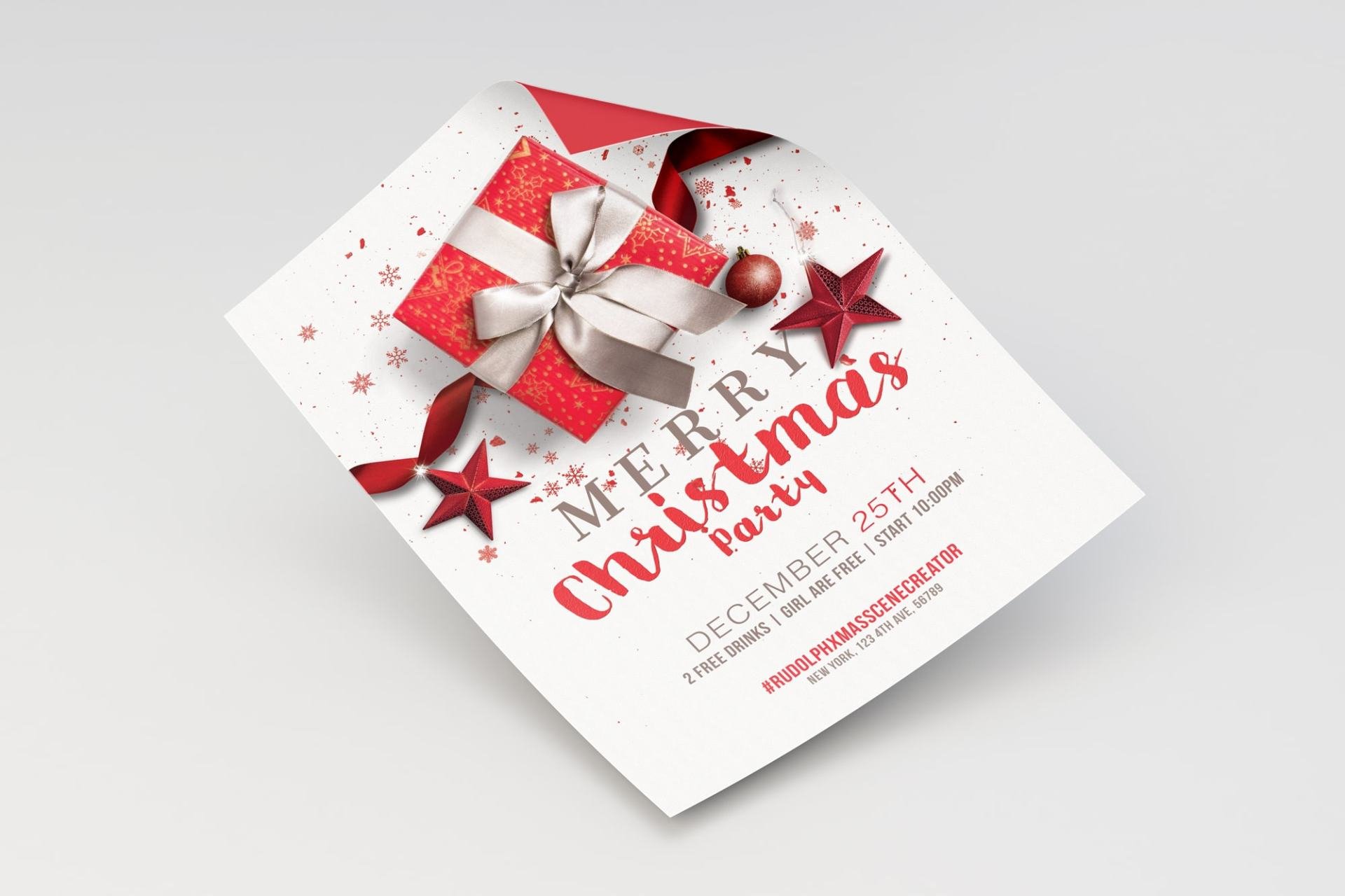 Merry Christmas Flyer - Poster Template 01