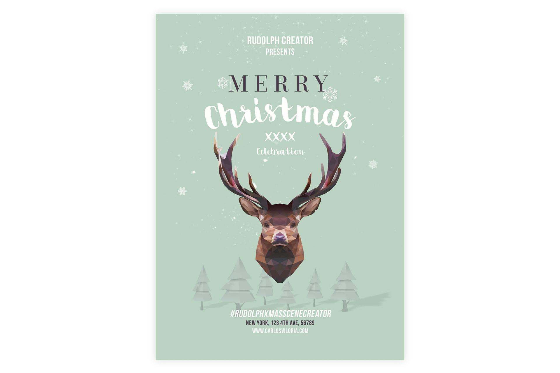 Merry Christmas Flyer - Poster Template 03