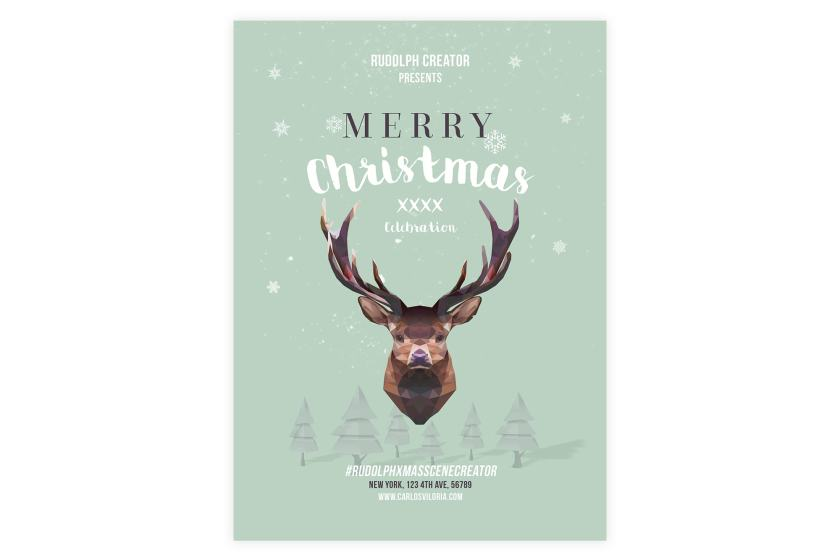 Merry Christmas Flyer – Poster Template 03