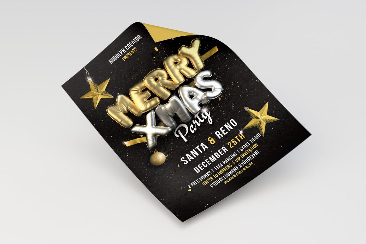 Merry Christmas Flyer - Poster Template 04