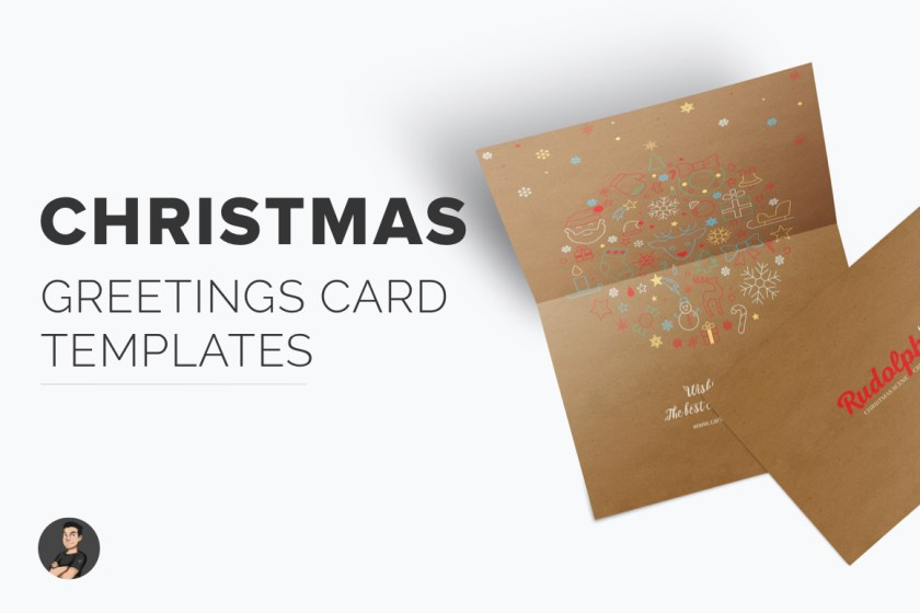 Christmas greetings card templates-hover