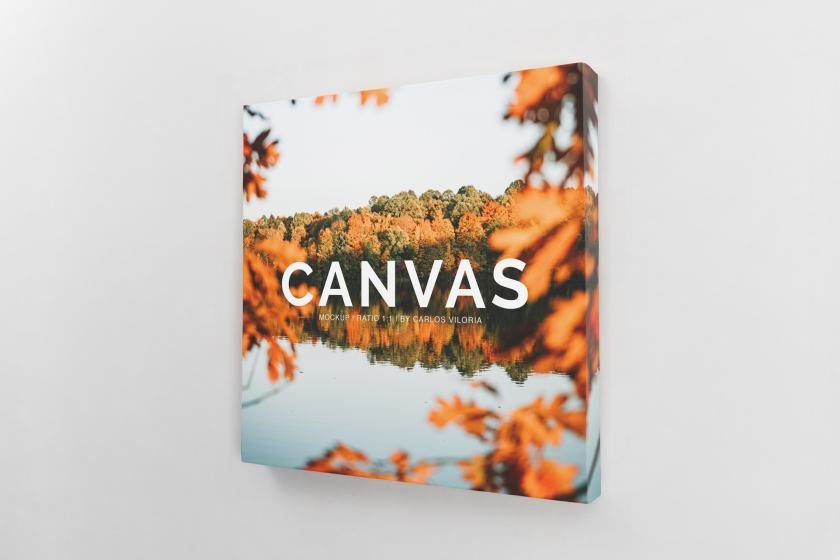 Square Canvas Ratio 1×1 Mockup 01