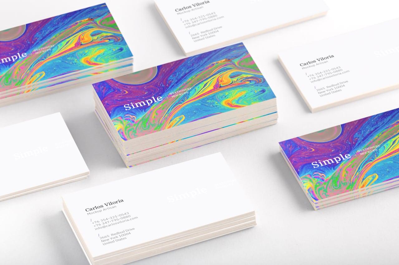 Business Cards Mockup 02