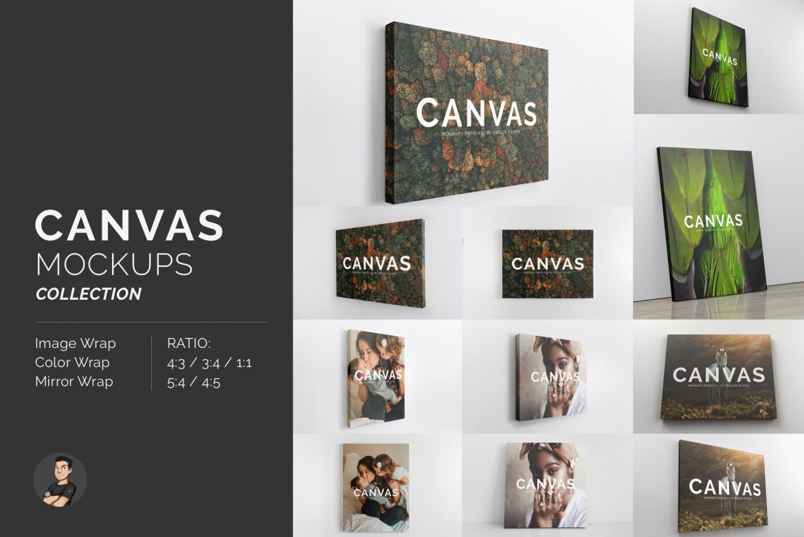 Canvas Mockups Templates Collection
