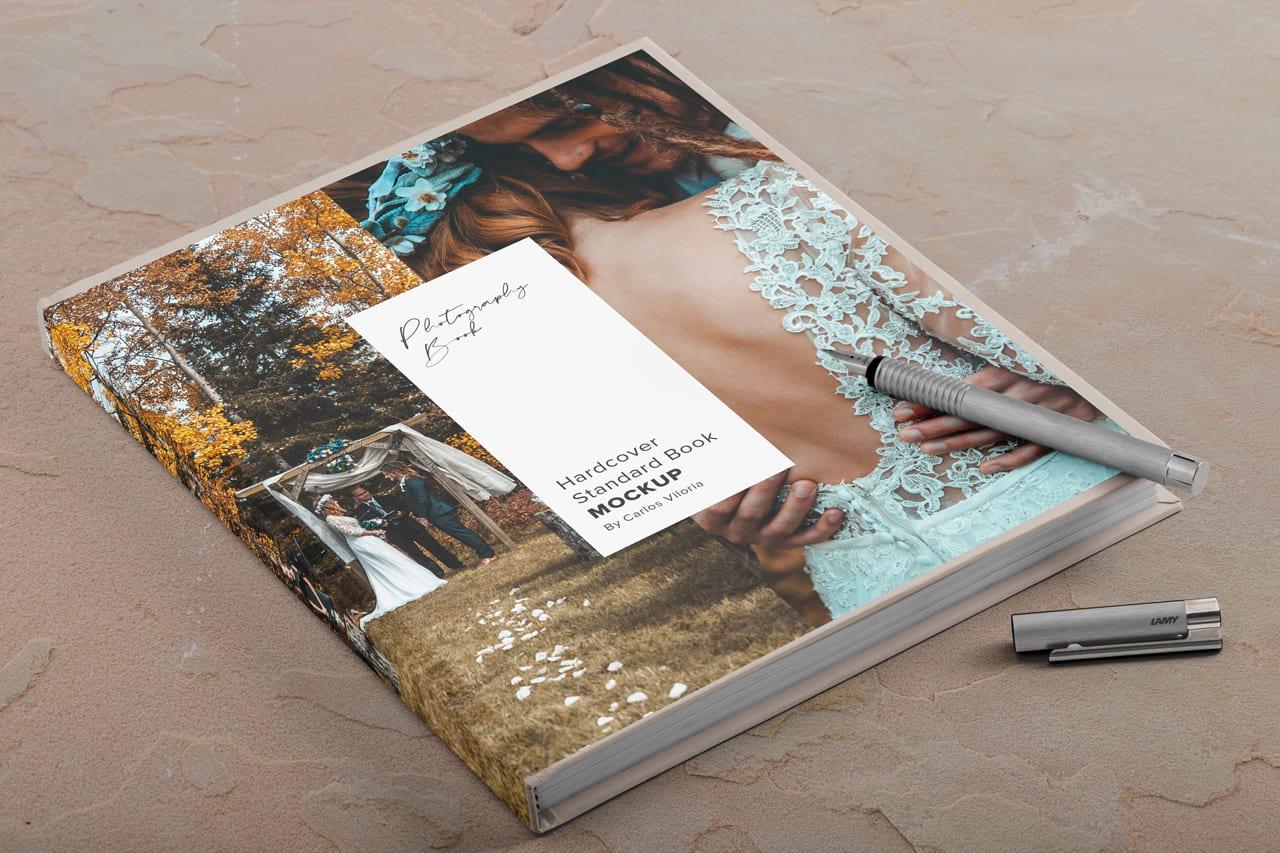 Hardcover Photo Book Mockup
