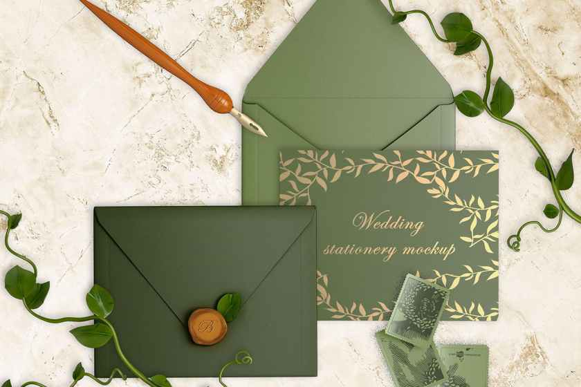 Free Wedding Invitation Card Mockup