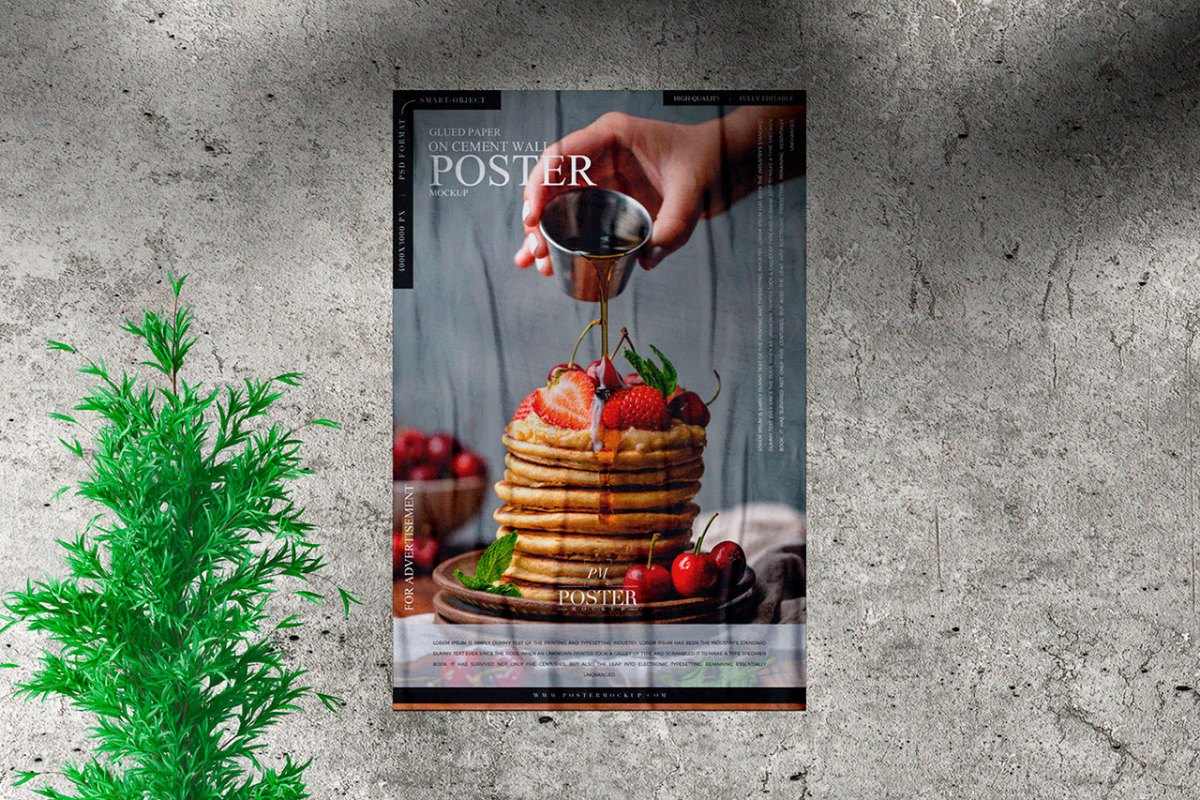 Free Elegant Poster Mockup