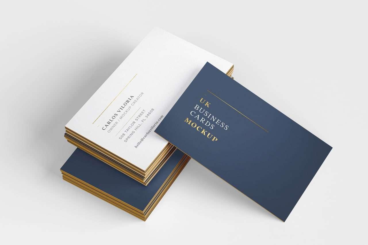 Mockup to showcase UK Business Cards
