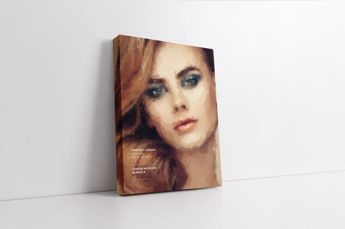 Leaning Portrait Canvas 30x40 Mockup