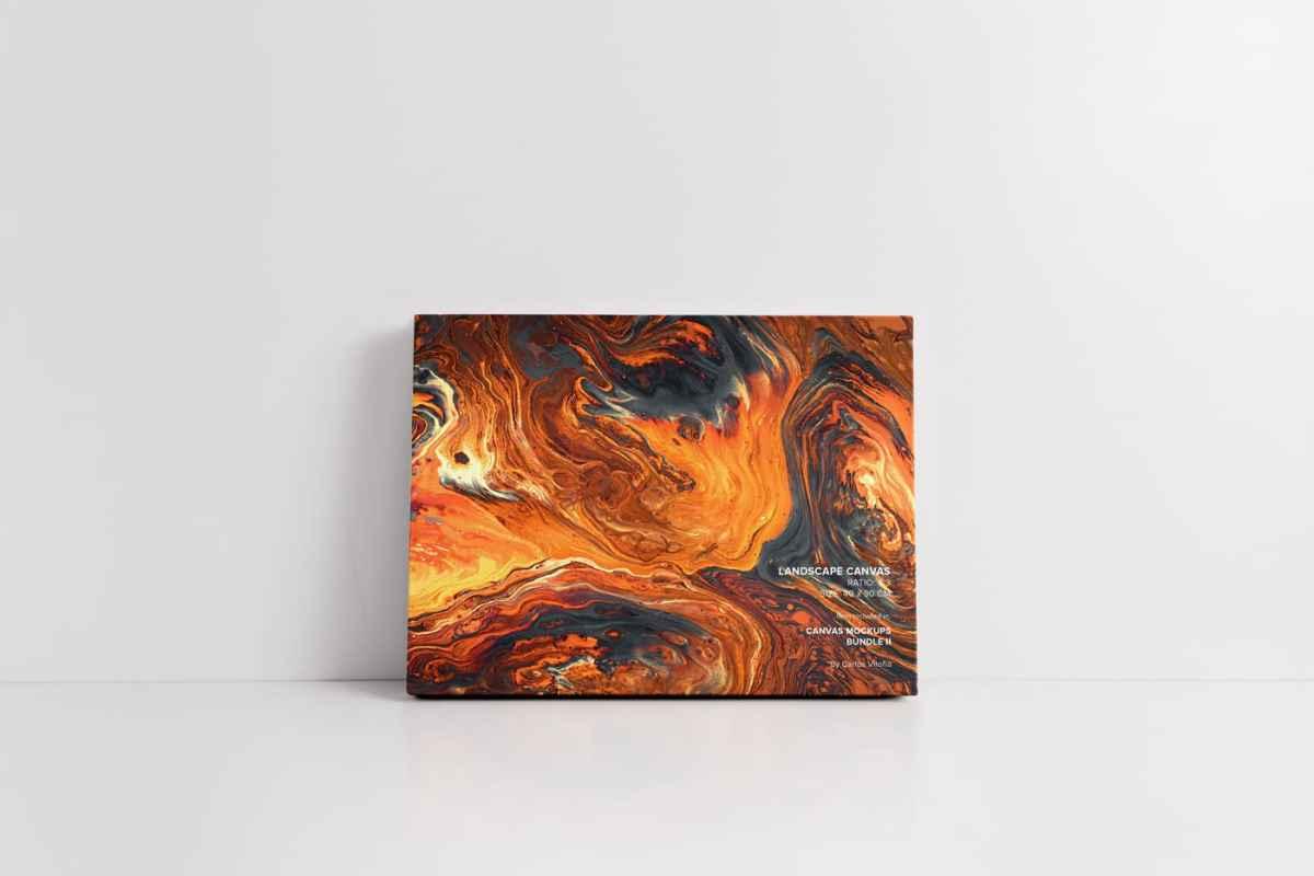 50x40 landscape canvas mockup