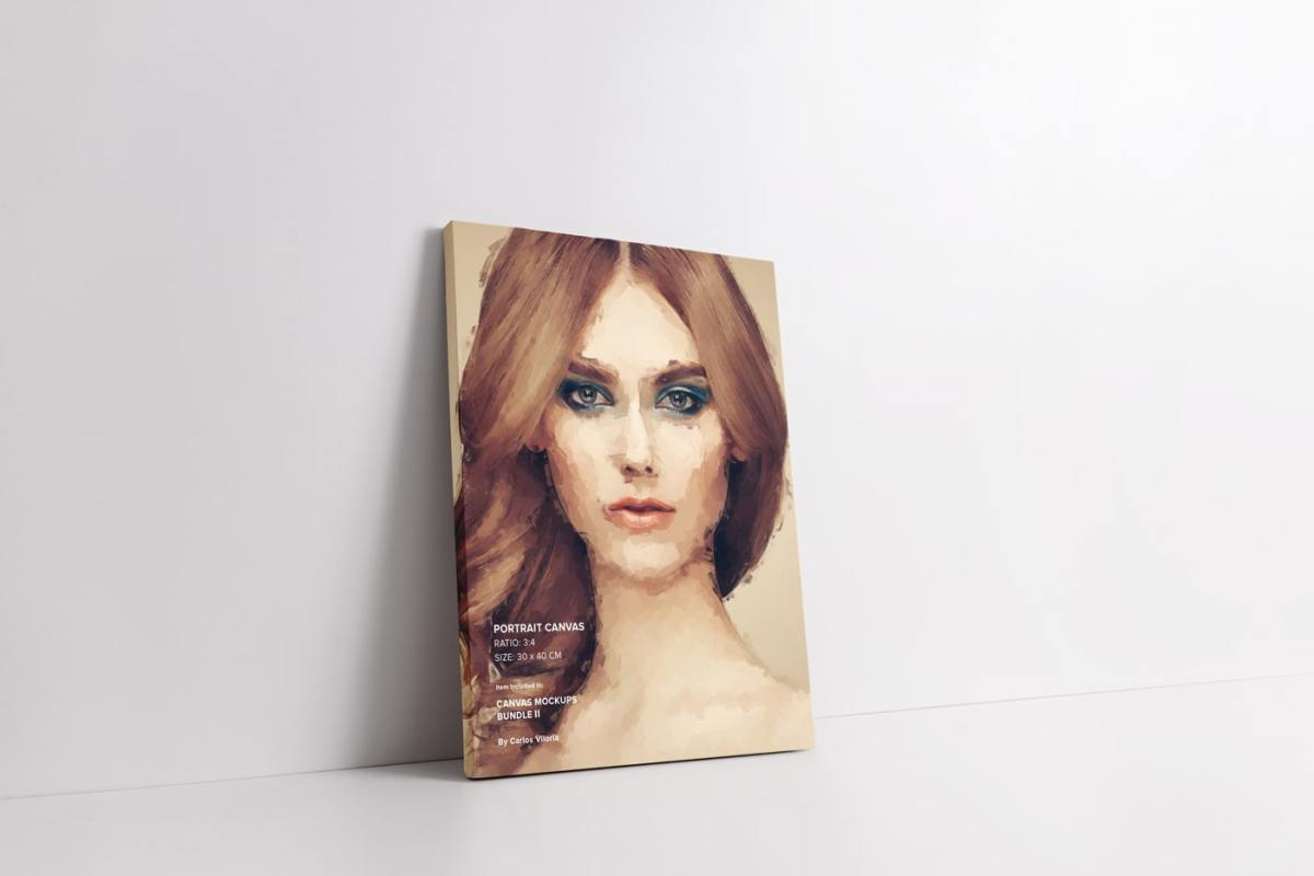 Leaning Side Portrait Canvas Mockup
