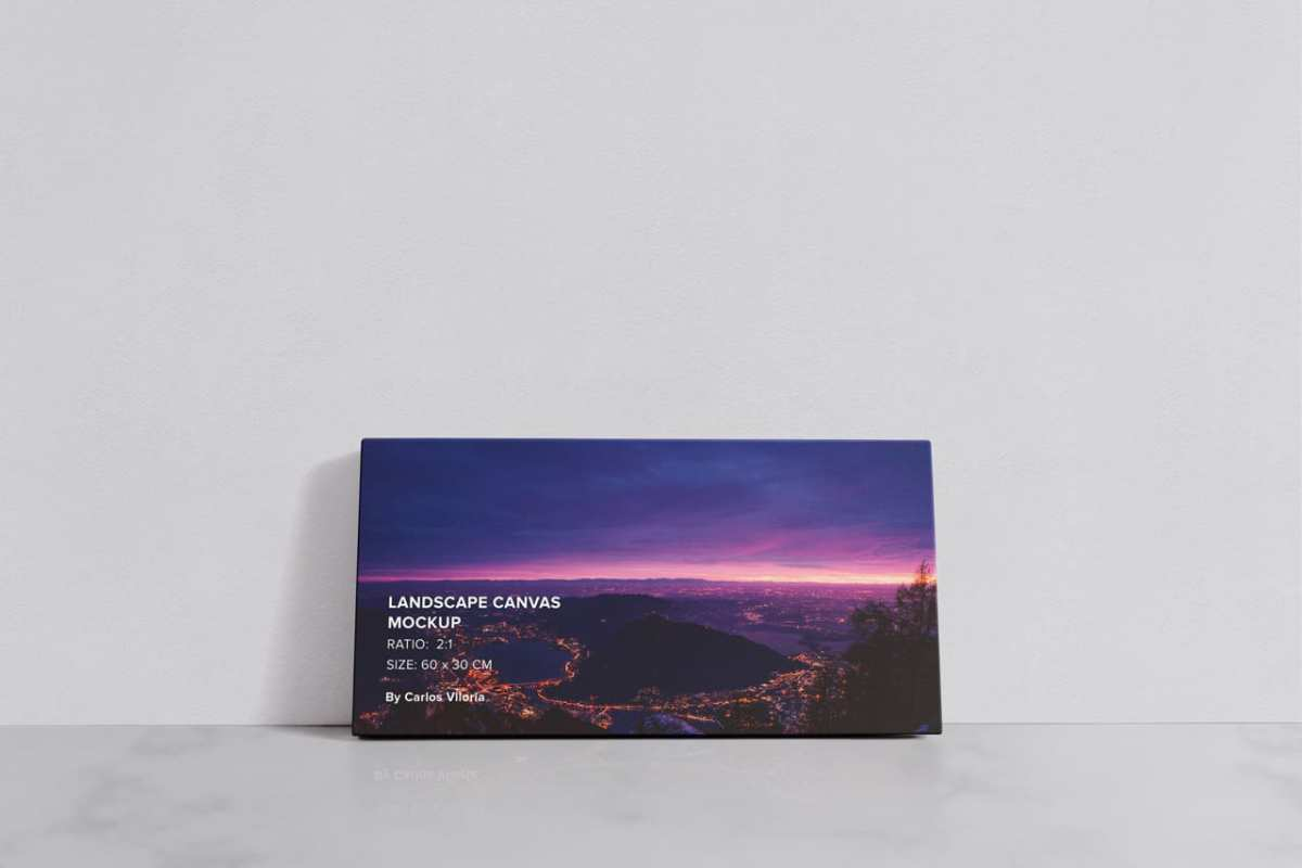 Landscape Canvas Ratio 2x1 Mockup