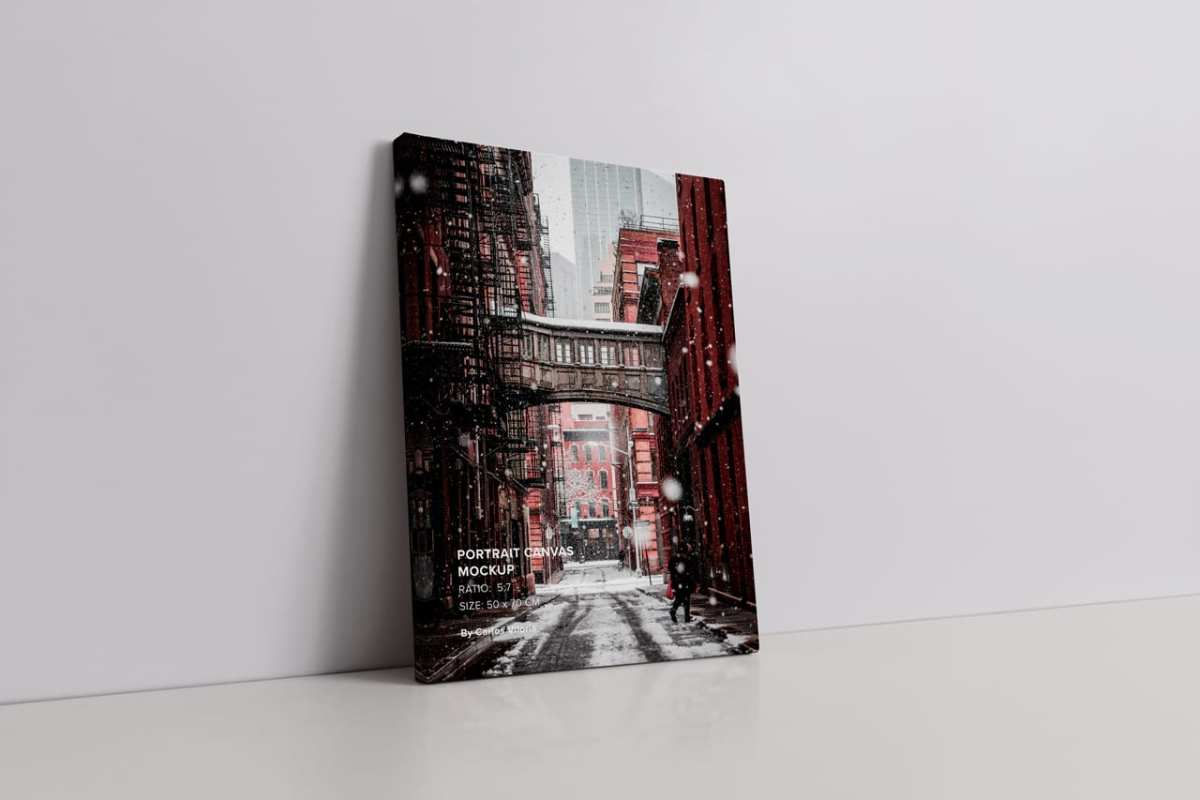 Wrap Side Portrait Canvas Ratio 5x7 Mockup