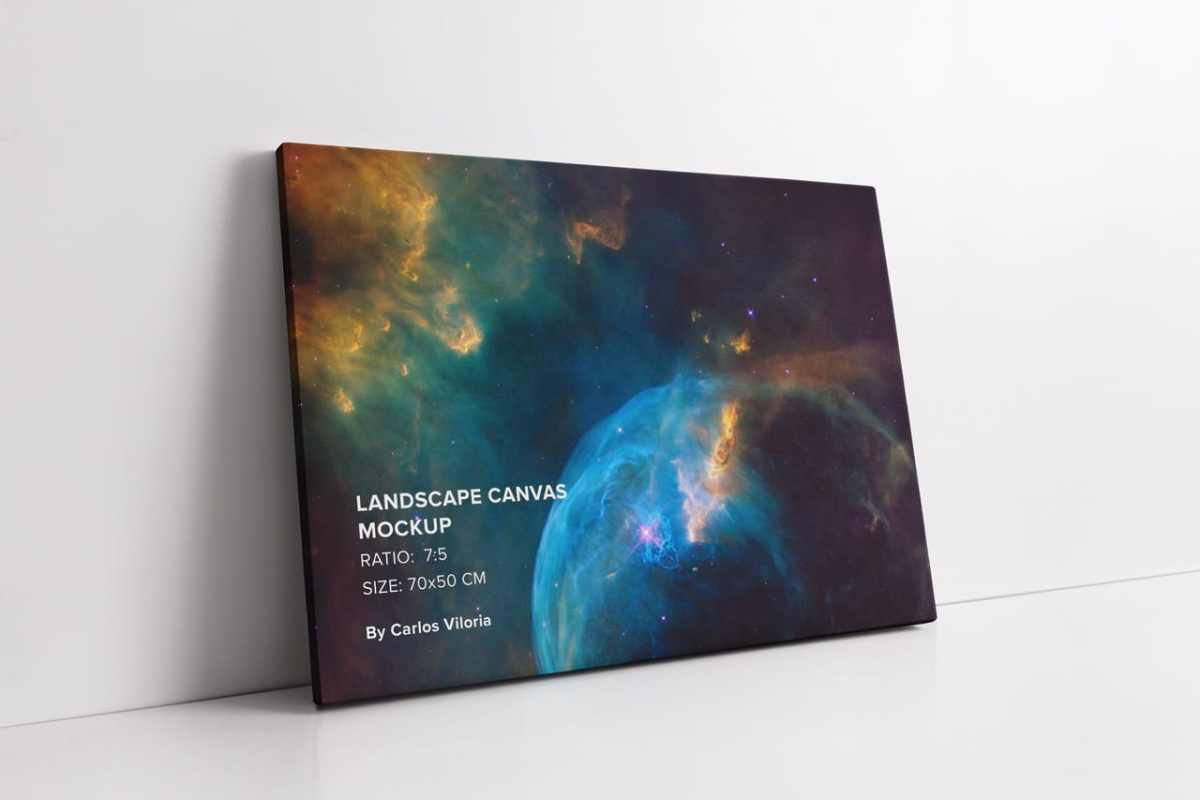 Landscape Thin Canvas Mockup
