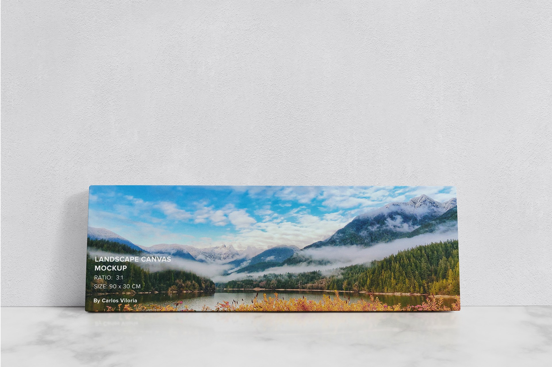 Art Wall Landscape Canvas Mockup