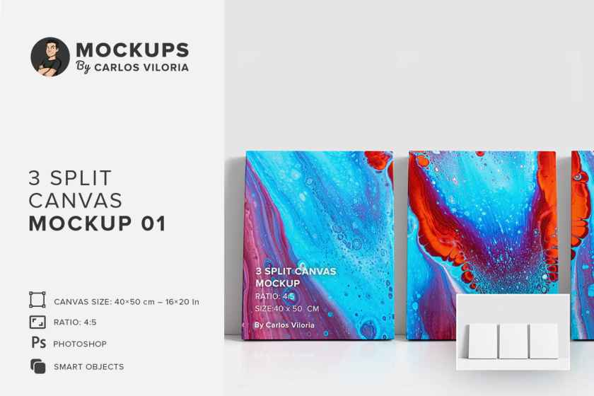 3 Split Panel Canvas Ratio 4×5 Mockup 01-cover