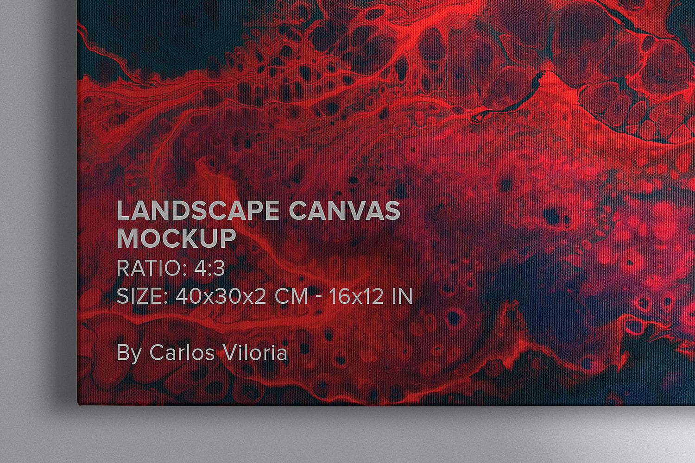 Landscape Canvas Ratio 4x3 Mockups Pack