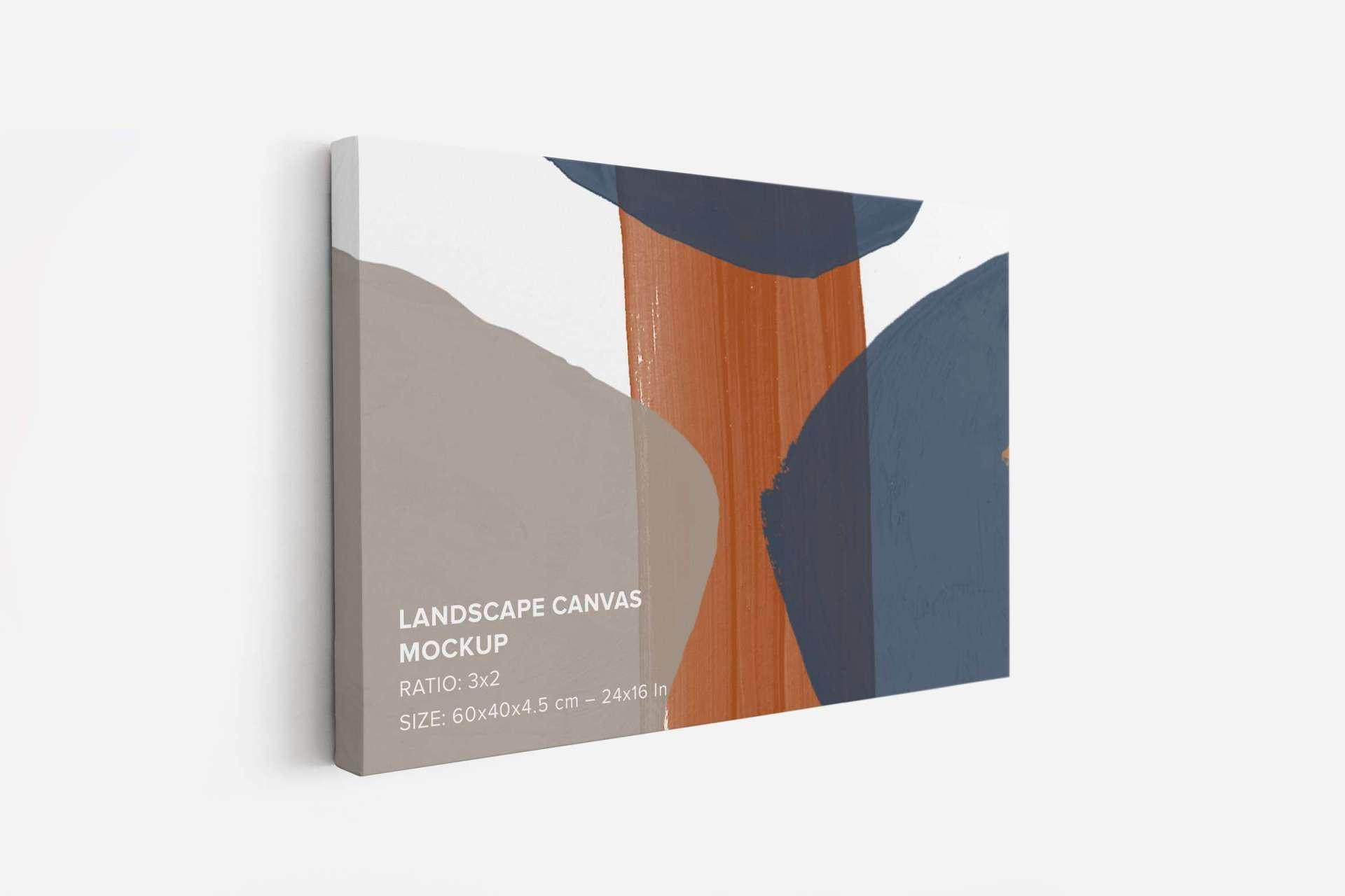 Landscape Canvas Ratio 3x2 Mockup Set