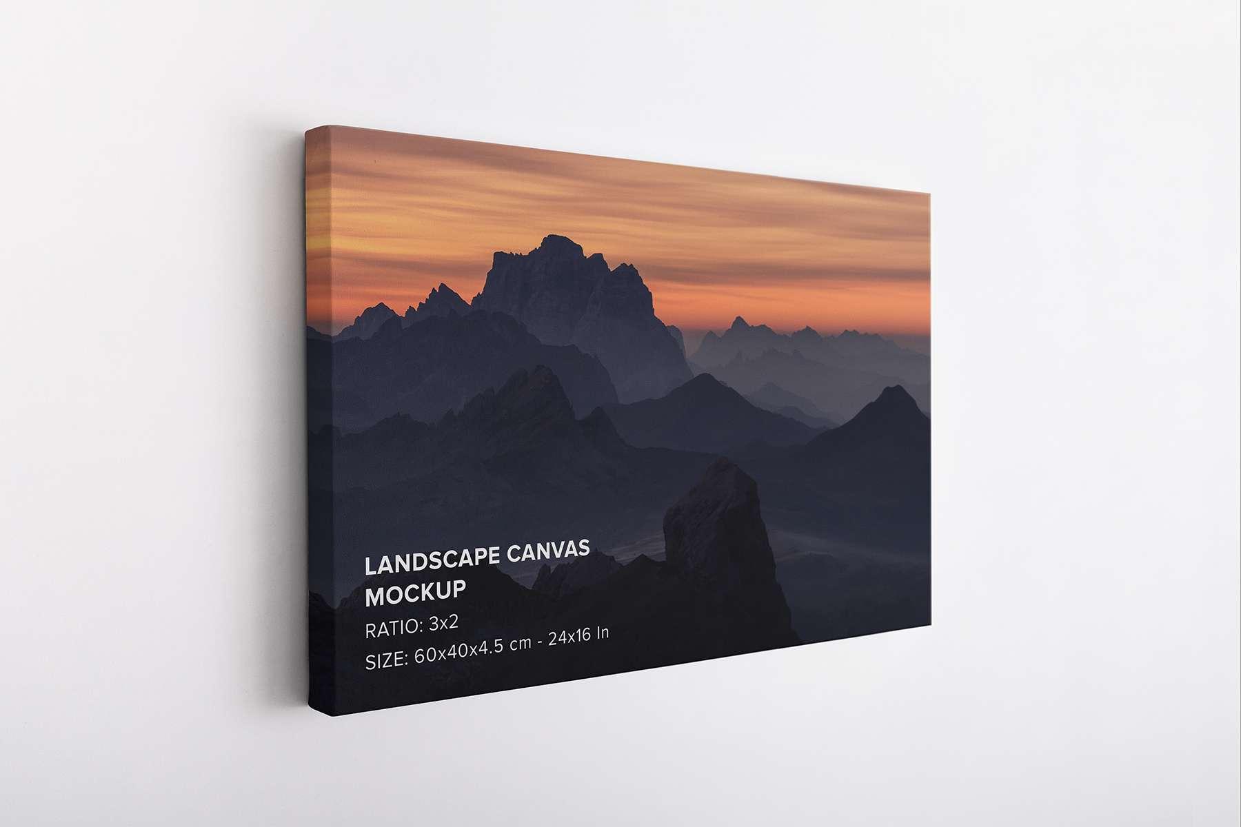 Hanging Landscape Canvas Mockup