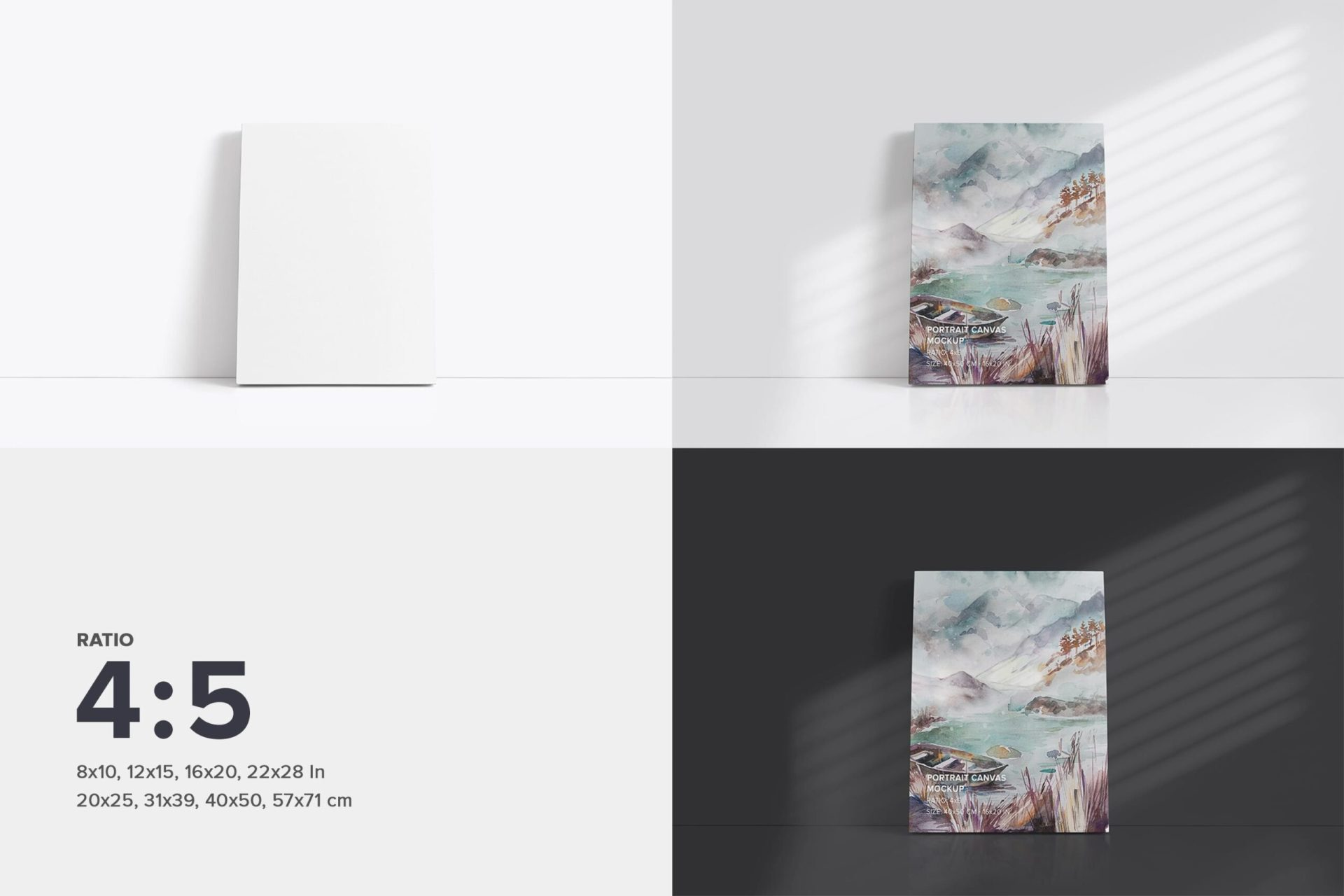 Front Canvas Mockup Pack