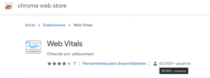 Web Vitals Extension para Chrome